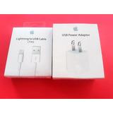 Cargador Apple Sellado Cubo + Cable Original Iphone 5 6 7 8