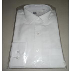 Camisa De Vestir Blanca Runser Manga Larga Talla Gde 38/40