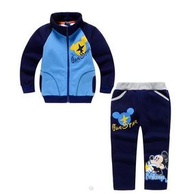 Conjunto Moletom Flanelado Moleton Mickey Infantil Grosso
