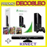 Xbox 360 250gb +kinect +3 Juegos Orig+joystick +12 M Gtia