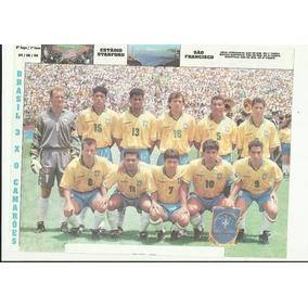 Poster Seleção Brasileira Copa De 1994 Brasil 3 X 0 Camarões