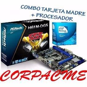 Tarjeta Madre H61m-dgs+procesador + Memoria Ram+ Disco Duro