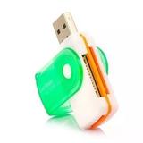 Mini Leitor De Cartão Memória Universal Usb Sd Micro Sd Xd