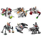 Lego Starwars Lote De 6 Naves Con Minifigura Compatibles