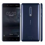 Celular Libre Nokia 5 Negro 16gb Cam 13mpx Lector Huellas