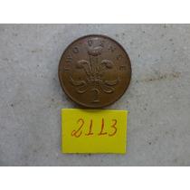 M - 2113 - Moeda Inglaterra 2 New Pence!!!