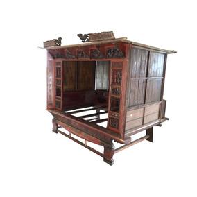 Cama Antigua China De Madera Entallada A Mano Ua Belleza