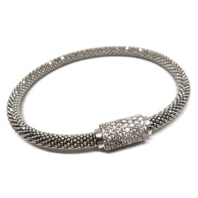 Uql-bracelete Italiano Prata 925 Zirconias Rodio Kessel