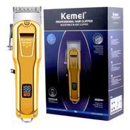 Máquina De Corte Kemei 2600a Visor Lcd Profissional Gold