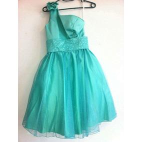 Vestido Verde Jade Para Niña Edad 12/13 Años