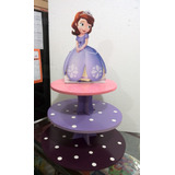 Base Para Ponques Cupcakes Mdf 3 Niveles Princesa Sofia