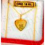 Conjunto De Oro 18kts Modelo 15 Años Con Cadena Grumeth
