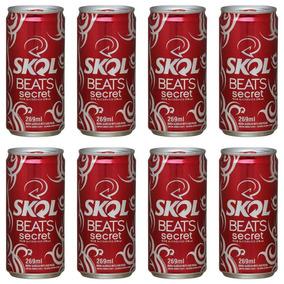 Skol Beats Vermelha Secret Pack Com 8 Latas De 269ml