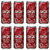 Skol Beats Vermelha Secret Pack Com 8 Latas De 269ml