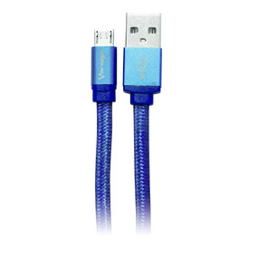 Cable Transferencia Datos Vorago Cab-107 Micro Usb Usb Azul