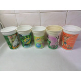 Vasos Plasticos Mirinda 7up Pokemon Zoo Hulk Lote X 5