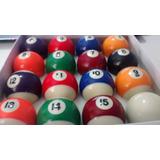 Jogo De Bolas Bilhar Snooker Sinuca 16 Bolas Numeradas 50mm