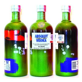 Absolut Vodka Unique Vacia Coleccion Berri Apeach Wild Lime