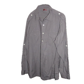 $500 Camisa China Gris Xl 5/48 Manga Larga Calidad Suprema