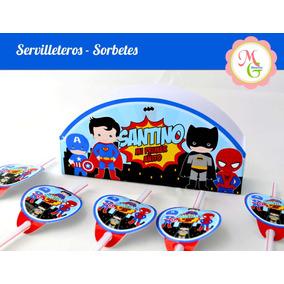 Servilletero + 5 Sorbetes Totalmente Personalizado