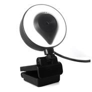 Webcam Cámara Web Full Hd 1080p Luz Micrófono Streaming Zoom