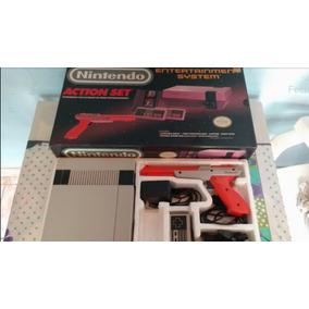 Nintendo Nes Nintendinho Action Set 8bits Impecável Mario