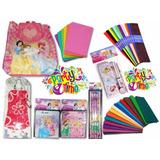 Combo Escolar D Princesas (bolso+cartuchera+termo+útiles...)