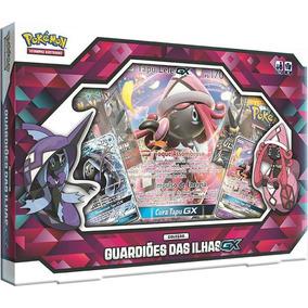 Box Pokémon Guardiões Das Ilhas Tapu Fini Tapu Lele Gx Card