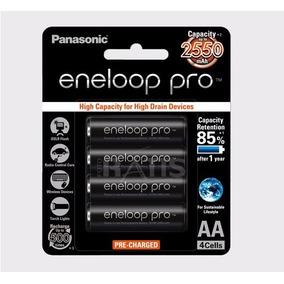 Panasonic Eneloop Pro 4 Pilhas Recarregável Aa 2550mah