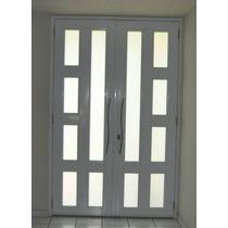 Porta De Alumínio Branco 2,1 X 1,5 Mt Abrir Com Vidro