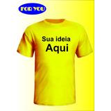 Camiseta Personalizada Como Quiser Foto Cha Bebe Malha Fria