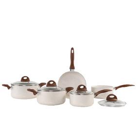 Conjunto De Panelas 5 Peças Ceramic Life 2,5 Vanilla Brinox