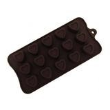 Forma De Silicone Para Chocolates E Bombons Formato Coração