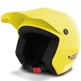 Capacete Moto Aberto Pro Tork Liberty Casco Abs Amarelo
