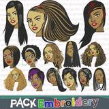 Peinados Chicas Lindas Vol.2 Tajima Husqvarna Bordados