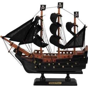 Navio Barco Fragata Caravela Pirata Pérola Negra Em Madeira