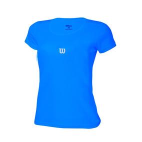 Polo Para Niñas Wilson - T-shirt Core Inf W Azul - Tenis