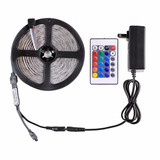 Tira Led Rgb Multicolor 5m 300led Exterior Control Fuente