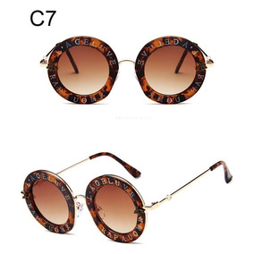 Oculos De Sol Feminino Fashion Redondo Frete Gratis - Óculos no ... 6fb9870a4b