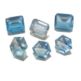 Leilão 6 Topazio Azul Reconstituido Pedra Preciosa J20445