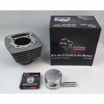 Kit Cilindro De Motor + Pistão + Anel Honda Nx 200 (solidez)