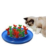Ir Gato Pez De Juguete Anti-estrangulador Comedero Plástico
