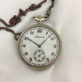 Hermoso Reloj Ruso Marinero De Bolsillo Molnija Años 50s