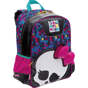 Mochila Escolar Monster High 15y02 Grande 3 Bolsos Sestini
