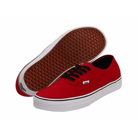 zapatos vans color rojo