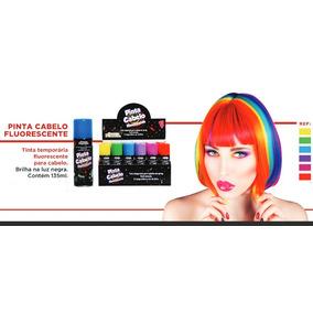 Tinta Temporária Pinta Cabelo Fluorescente Neon Em Spray