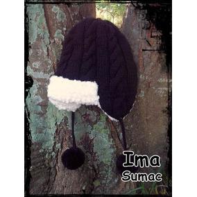 Ushanka Gorro Ruso Tejido Crochet Artesanal