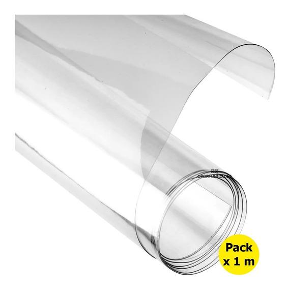 Pvc Cristal Acetato 450 Micrones X1 Metro X 60cm Pet Rollo