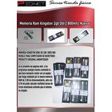 Memoria Ram Kingston Ddr2 2gb 800mhz