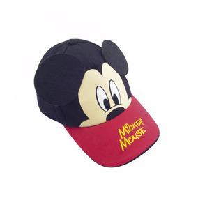 Boné Infantil Vermelho Com Preto Orelhas Mickey - Disney